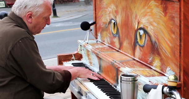 Man Stops By A Street Piano, Makes The Best Cover Of 'Say Something' There Is